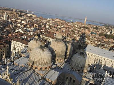 View Of Venice Print by Bernard Jaubert