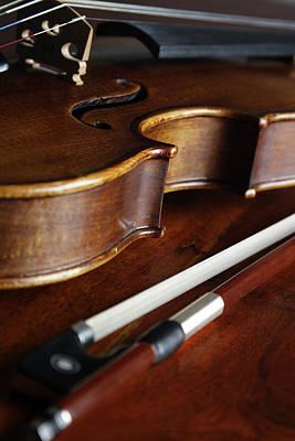 String Art Photograph - Violin by Nichola Evans