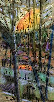 Solstice Painting - Winter Solstice by Donald Maier