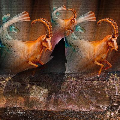 Pioneertown Digital Art - Wolf Cries Capricorn Save Our Desert by Carlos Reyes