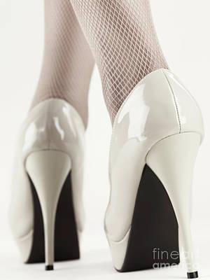 Woman Wearing High Heel Shoes Print by Oleksiy Maksymenko