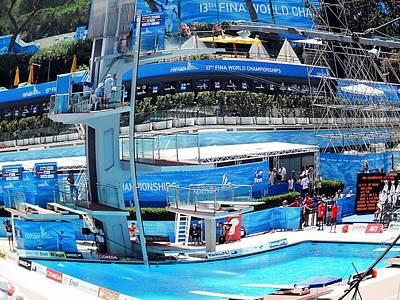 World Swimming Championship Rome Platform Dive Final Original by John Vito Figorito