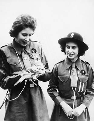 World War II. Future Queen Of England Print by Everett