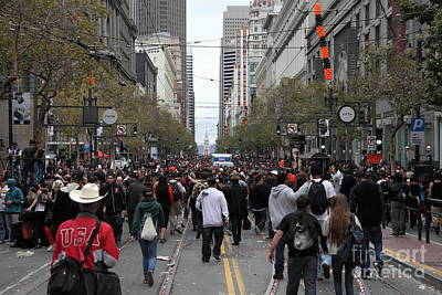 2012 San Francisco Giants World Series Champions Parade Crowd - Dpp0002 Print by Wingsdomain Art and Photography