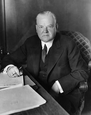 Former President Herbert Hoover Print by Everett