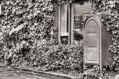 Mail Box Photograph - 22747 Bw by JC Findley