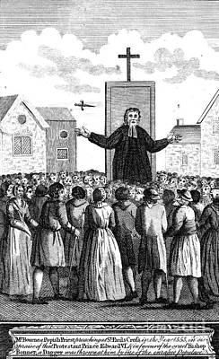 Sermon Photograph - Foxe: Book Of Martyrs by Granger
