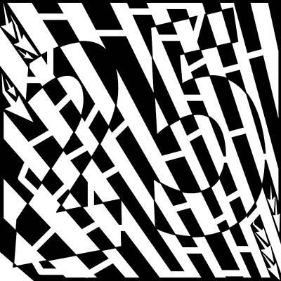Frimer Drawing - 25th Number Maze by Yonatan Frimer Maze Artist