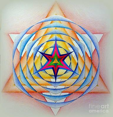Merkaba Drawing - 272. Mandala by Martin Zezula
