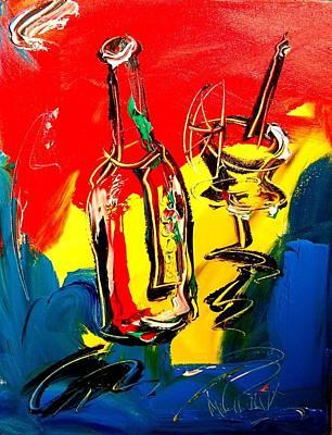Black History Painting - Wine by Mark Kazav