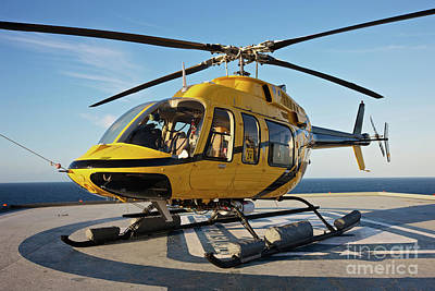 A Bell 407 Utility Helicopter Print by Terry Moore