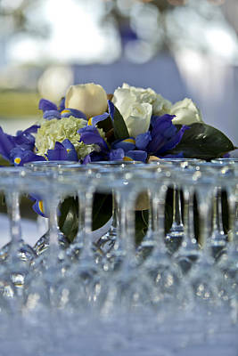 Tableware Photograph - A Formal Party Dining Table Laid by Dan Kaufman