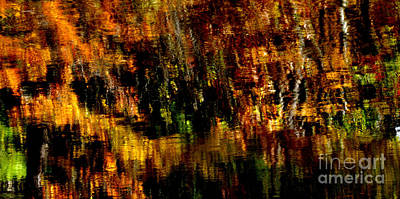 Grist Mill Photograph - Abstract Babcock State Park by Thomas R Fletcher