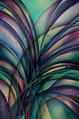 Abstract Movement Painting - Abstract Design by Michael Lang