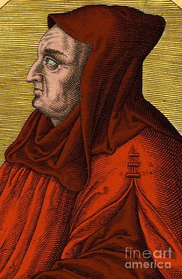 Albertus Magnus, Medieval Philosopher Print by Science Source