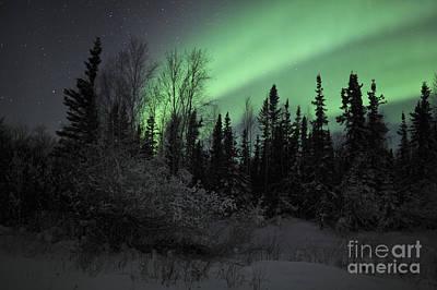 Yellowknife Photograph - Aurora Borealis Over Vee Lake by Jiri Hermann