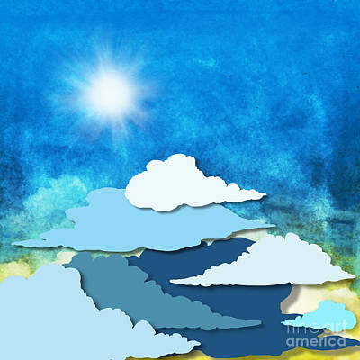 Cloud And Sky Print by Setsiri Silapasuwanchai