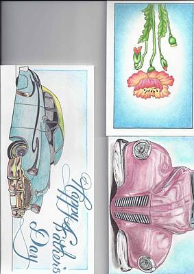 3 Different Cards Print by Jay Van