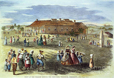 Freedmans School, 1866 Print by Granger