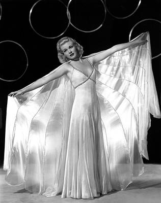 Ginger Rogers, In A Publicity Portrait Print by Everett