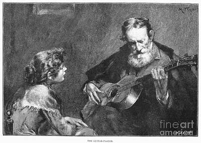 Guitar Player Print by Granger