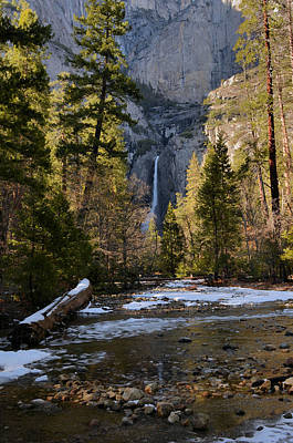 Lower Yosemite Falls Print by Stephen  Vecchiotti