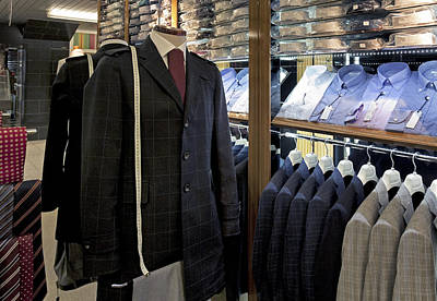 Menswear On Display At A Clothes Shop Print by Jaak Nilson