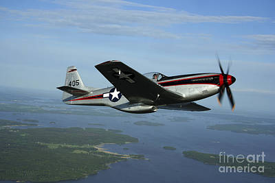 North American P-51 Cavalier Mustang Print by Daniel Karlsson