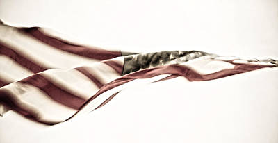 Red Photograph - Ol Glory by My Minds  Photographer