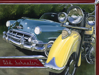 Chevy Painting - Old Schoolin' by Lucretia Torva