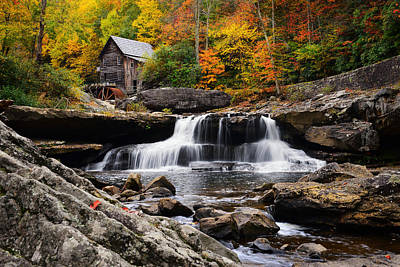 Grist Mill Photograph - Old Time Fame by Bernard Chen