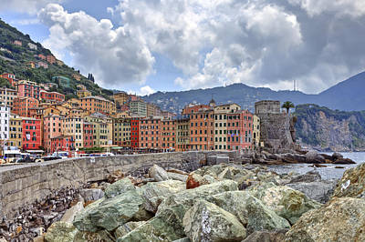 Port Of Camogli Print by Joana Kruse