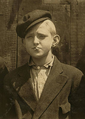Portrait Of A Boy Smoking, Original Print by Everett