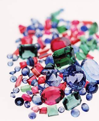 Peridot Photograph - Precious Gemstones by Lawrence Lawry