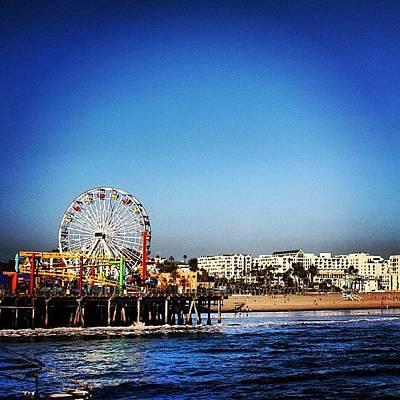 Beach Photograph - Santa Monica by Luisa Azzolini