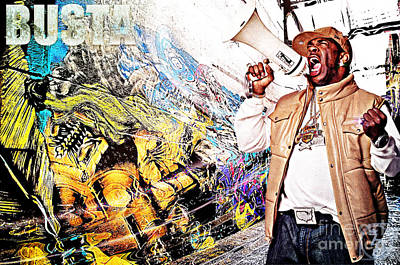 D77 Mixed Media - Street Phenomenon Busta by The DigArtisT