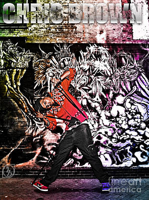 Rhythm And Blues Mixed Media - Street Phenomenon Chris Brown by The DigArtisT