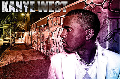 Rhythm And Blues Mixed Media - Street Phenomenon Kanye West by The DigArtisT