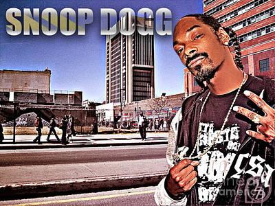 Street Phenomenon Snoop Dogg Print by The DigArtisT