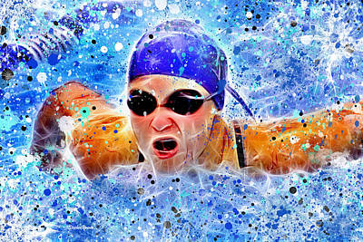 Swimmer Print by Stephen Younts