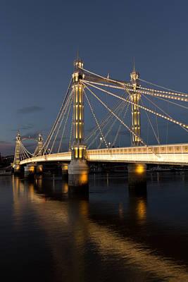The Albert Bridge London Print by David Pyatt