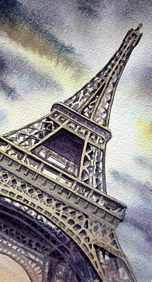 The Eiffel Tower  Print by Irina Sztukowski