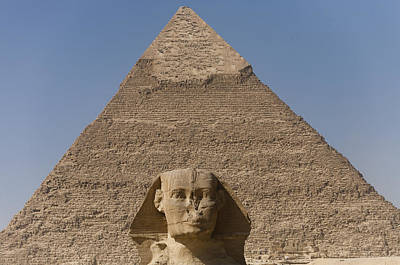 The Sphinx Stands In Front Of The Great Print by Taylor S. Kennedy