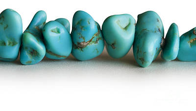 Necklace Photograph - Turquoise Stones by Blink Images
