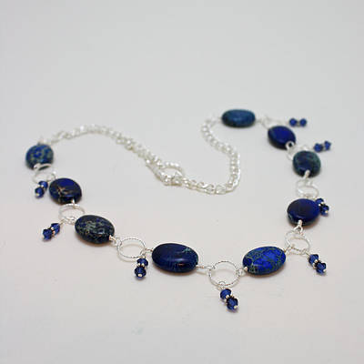 3589 Blue Sea Sediment Jasper Necklace Original by Teresa Mucha