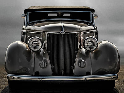 Custom Ford Digital Art - '36 Ford Convertible Coupe by Douglas Pittman
