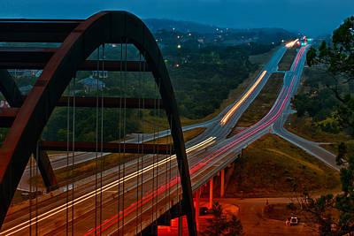 Photograph - 360 Bridge Morning Traffic by Lisa  Spencer