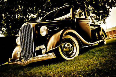 Phil Motography Clark Photograph - 37 Ford Pickup by Phil 'motography' Clark