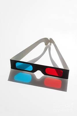 3d Glasses Print by Juan  Silva