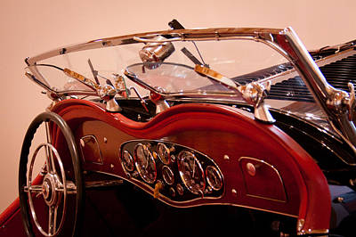 Old Photograph - 1933 Mercedes-benz 380 Ss Roadster Erdmann And Rossi by David Patterson